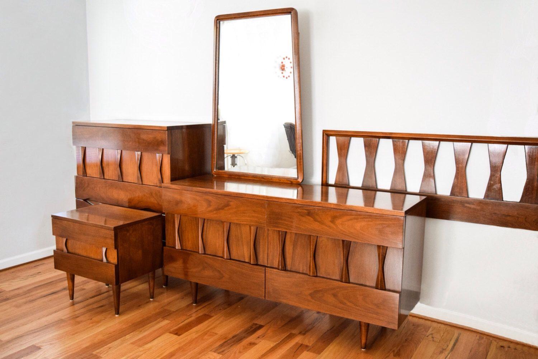 Best Mid Century Bedroom Set Beautiful American Of 400 x 300