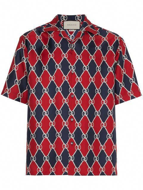 ce936fd15 Gucci Silk Logo Bowling Shirt - Farfetch #silkboxershorts | Silk ...