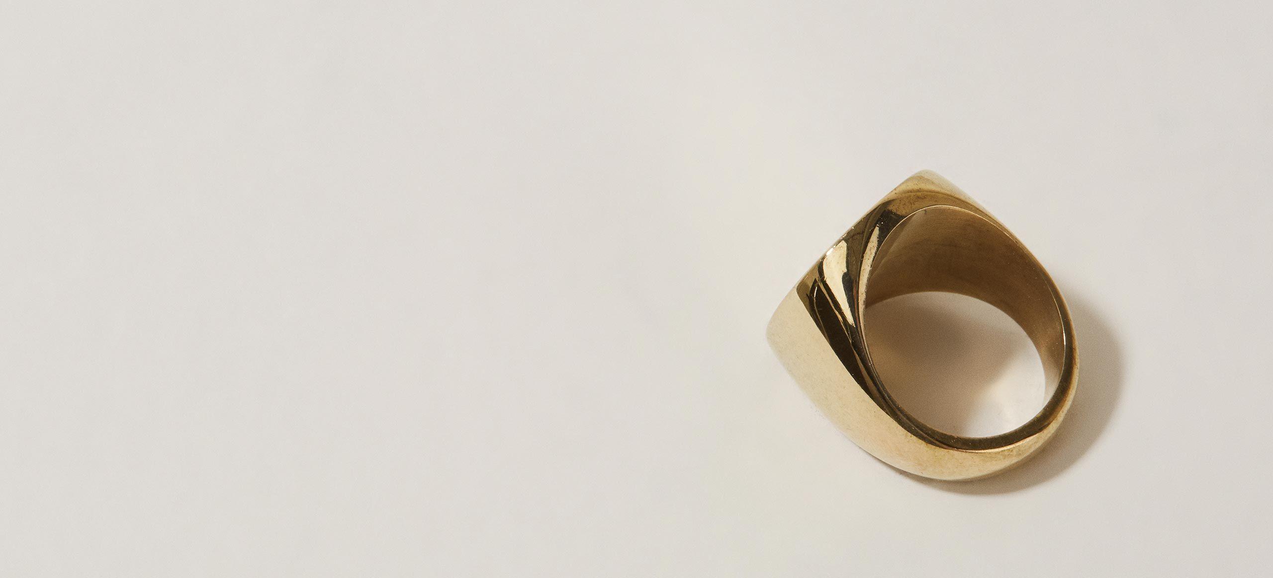 Soko Square Signet Ring wp5ps2oK