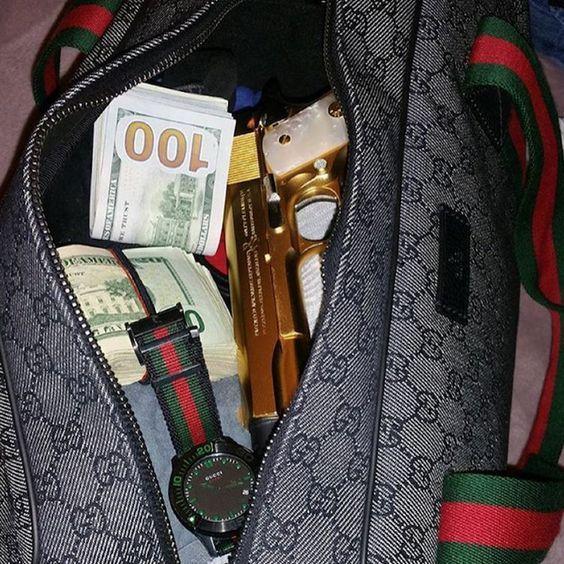 Gucci Duffle Bag Boy Money Gangsta