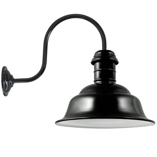 Outdoor Industrial Design Wall Light Dortmund RO 130  *Industriedesign Wandleuchte Dortmund RO 130 Mit Bogenarm