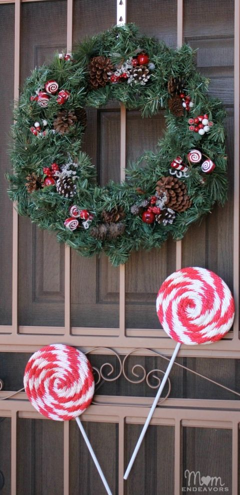 Candy Cane Decorations Pinterest Giant Peppermint Lollipops  Candy Canes  Pinterest  Peppermint