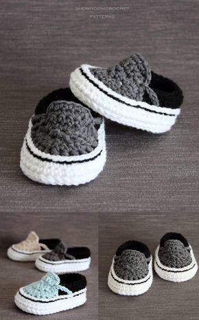Patrón de crochet zapatillas para bebé