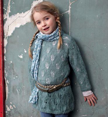 Modèle robe fille manches longues Modèles tricot enfant