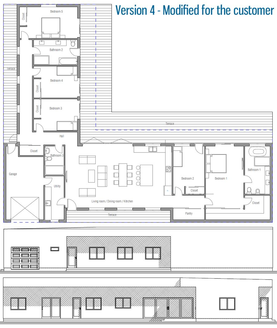 Modified House Plan / Customer House | Plan maison plain ...