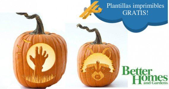 Plantillas gratuitas de calabazas para Halloween 100 Gratis