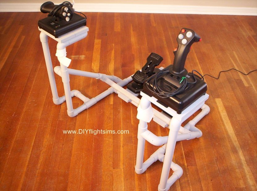 Flight Simulator Controls - DIY Frame for Side Joystick | Easy Home