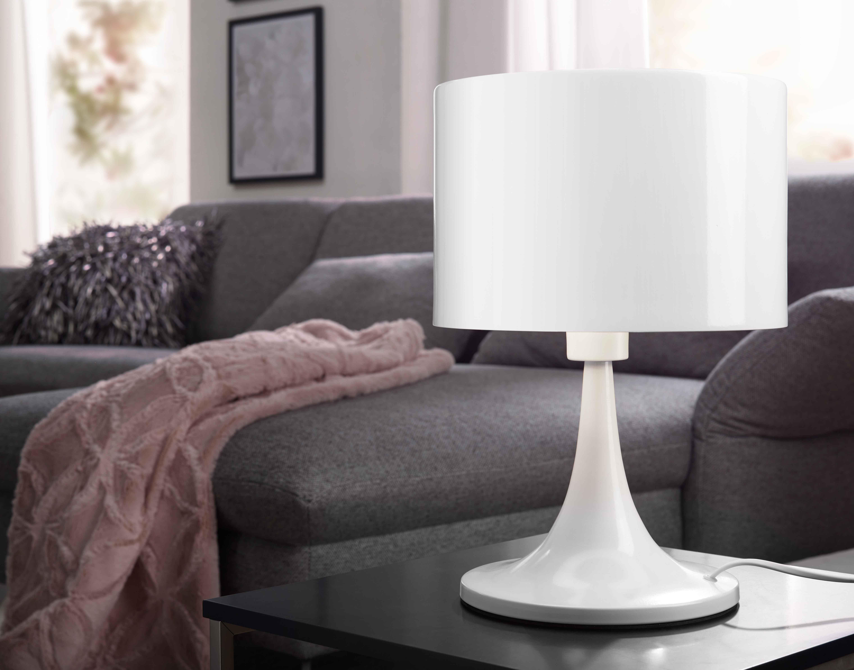Wohnling Tischleuchte Tila weiß WL3.060 aus Metall Licht