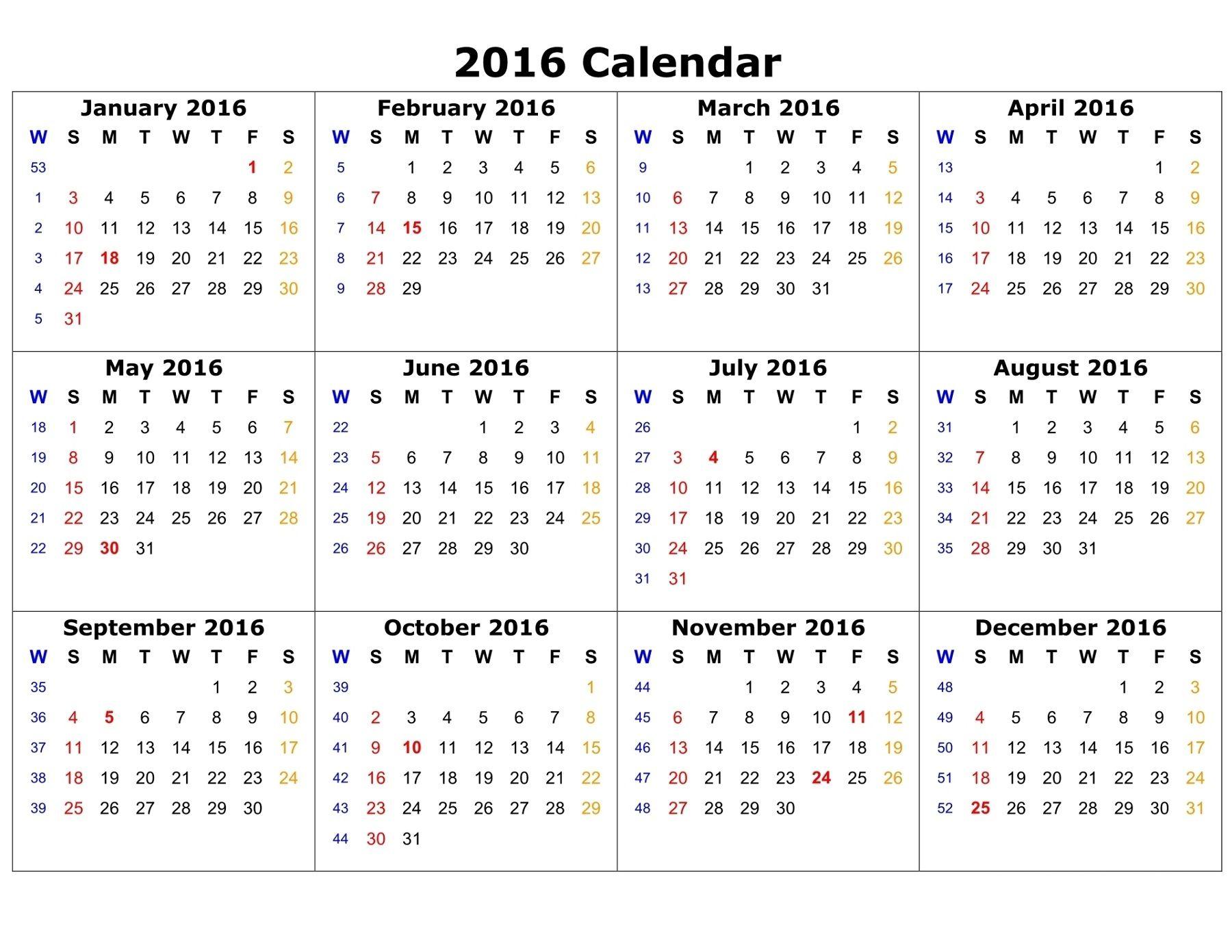 calendar 2016 to print calendar template printable pinterest