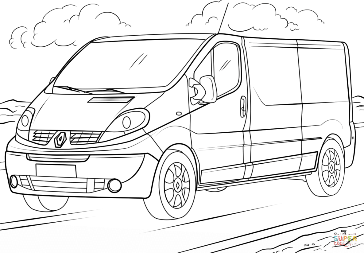 Coloriage Renault Trafic