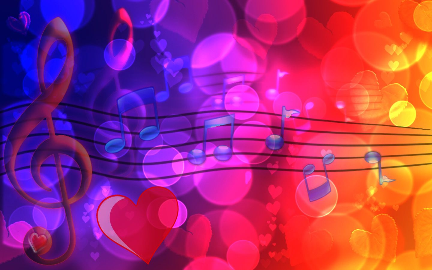 Colorful Music Notes 3d Wallpaper 8402 Frenzia Com Rainbow Music Music Notes Music Waves