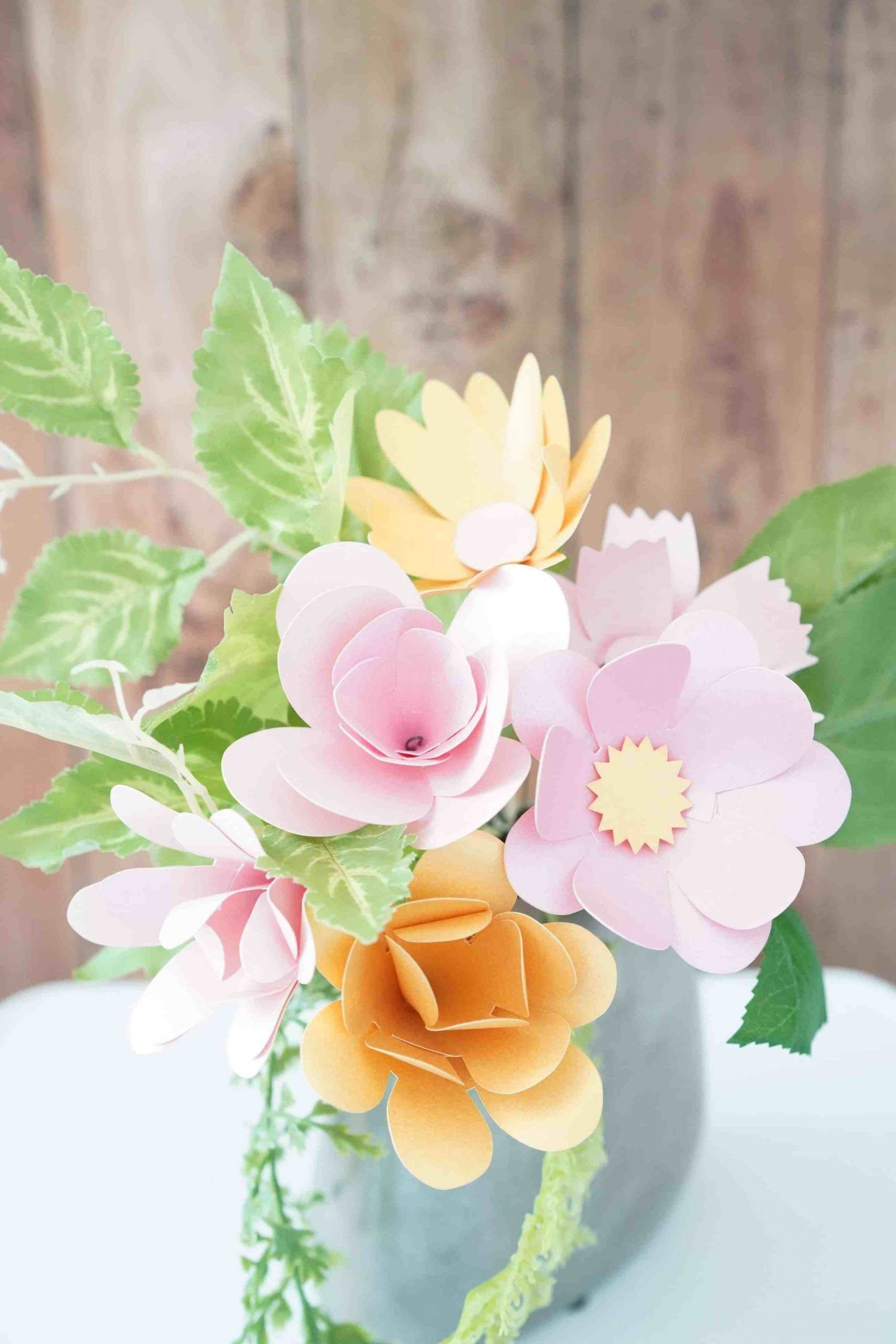 Bouquet of paper flowers 7 free templates paper paper