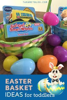 Easter basket ideas and easter egg fillers for toddlers easter easter basket gift ideas for preschoolers toddlers and easter egg fillers for boys girls negle Choice Image