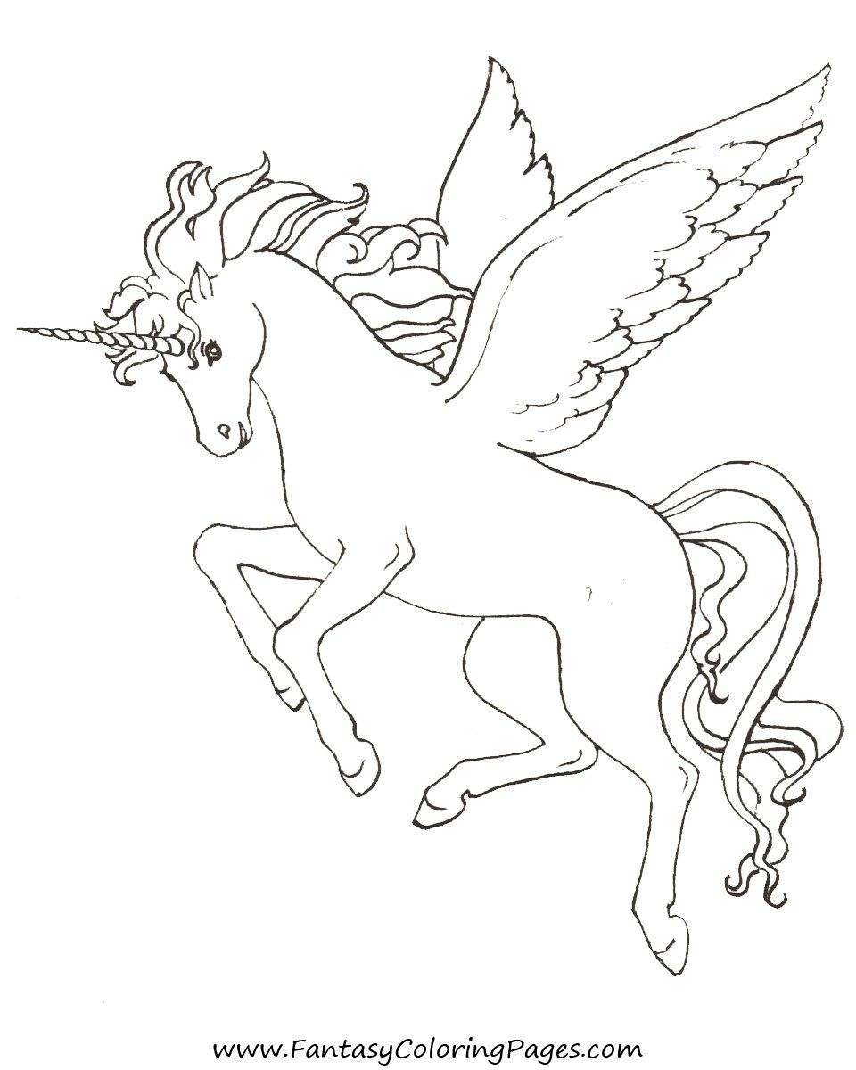 Magical unicorn coloring pages - Free Coloring Pages Pegasus And Unicorns