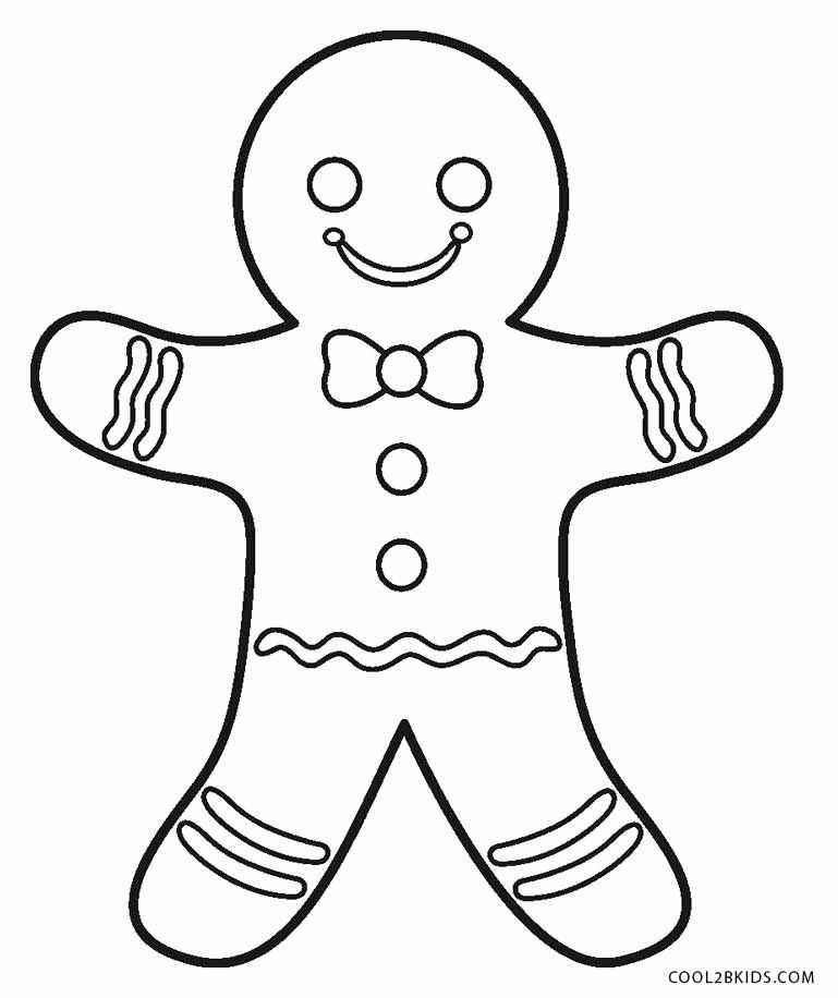 Gingerbread Man Coloring Page Awesome Free Printable Gingerbread