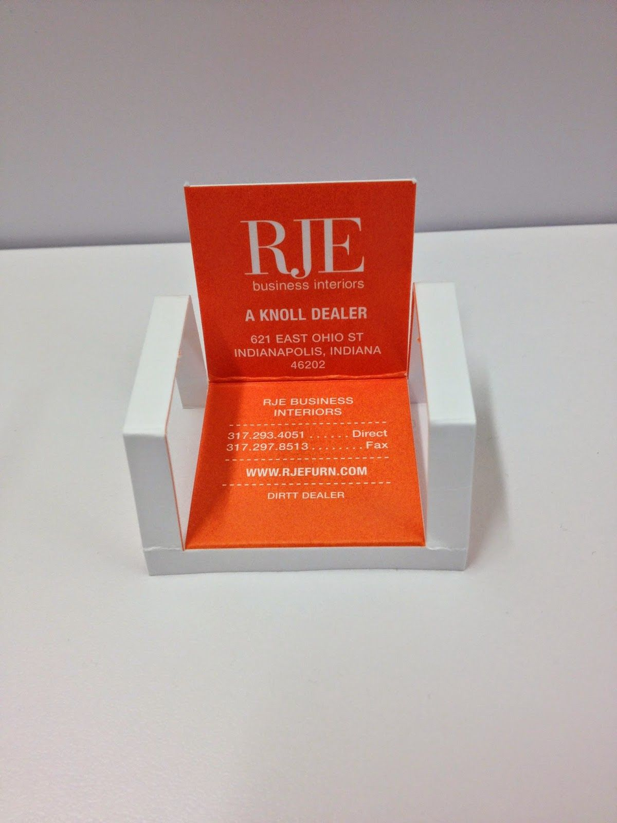 RJE Business Interiors: RJE New Business Card Design and Awards ...
