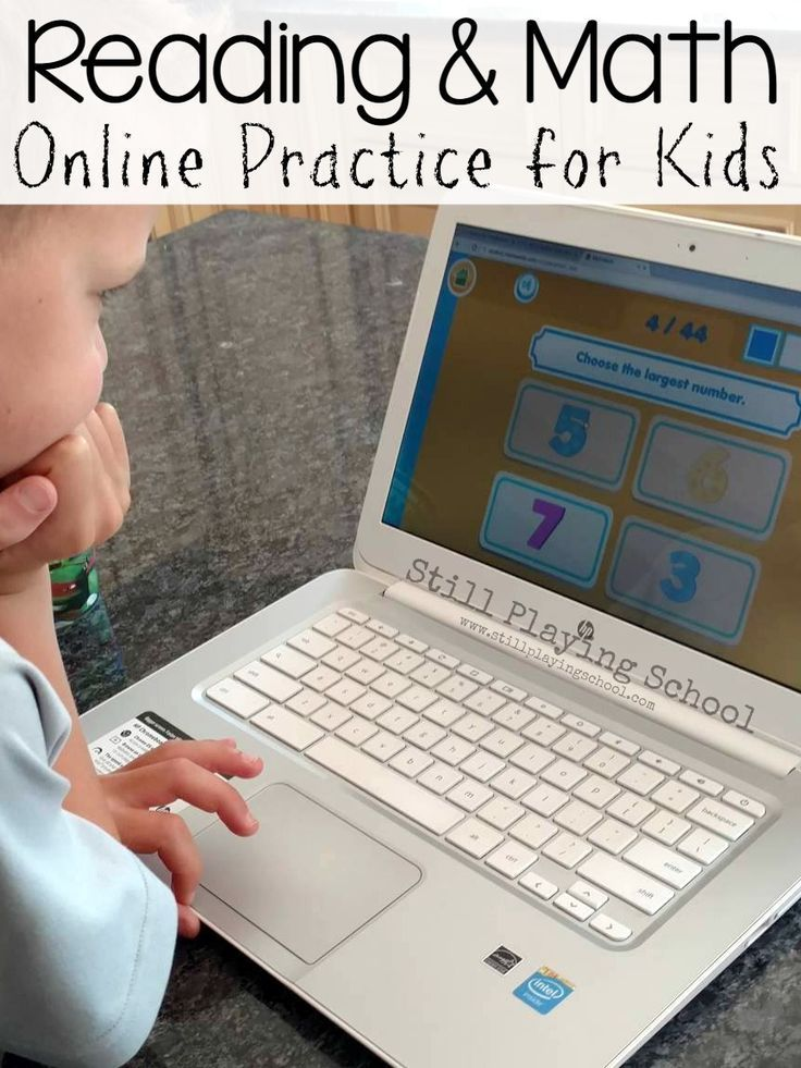 Online reading and math practice for kids via an educational website ...
