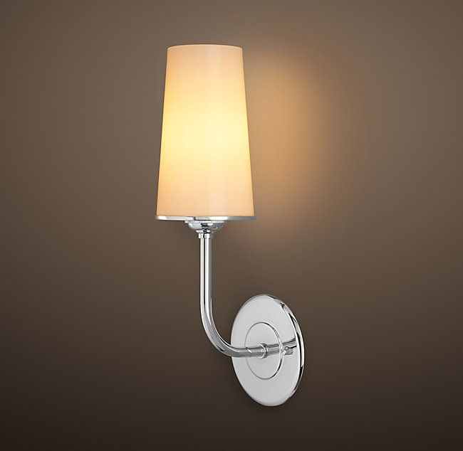 Modern Taper Sconce with Glass Shade | Jahnke | Pinterest | Glass ...
