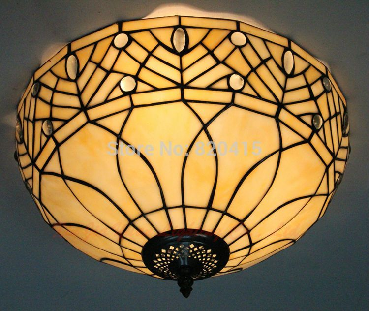 12 Tiffany Style Stained Glass Ceiling Lights Living Room Antique Handmade Embeded Modern Lighting Corridor