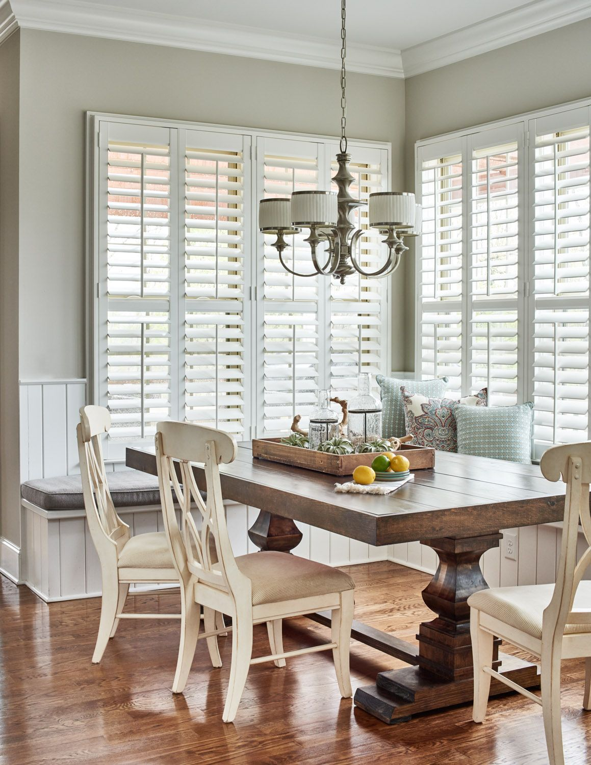 Eat In Kitchen With Farmhouse Table And Banquette Seating