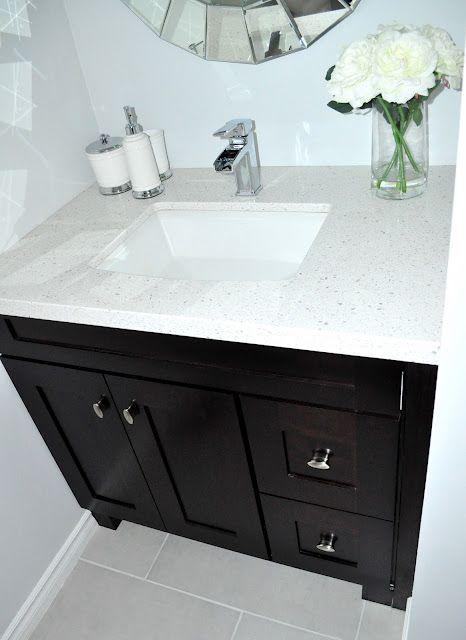 Bathroom Reveal 1 Powder Room Vanity Black Bathroom Diy