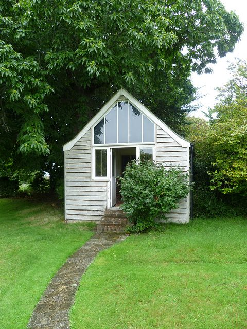 Virginia Woolf's writing shed at Monk's House. I so need one of these.
