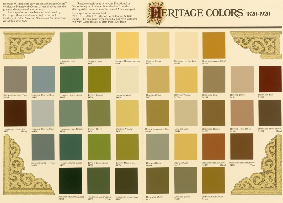 Image of: Victorian Interior Paint Color