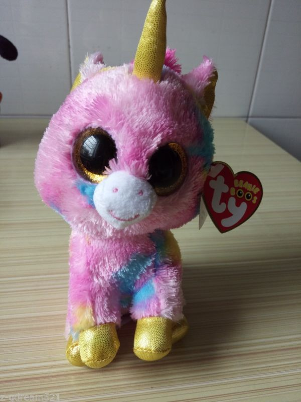 """#45 6"""" Ty Beanie Boos Stuffed Toy Little unicorn Plush Doll For Kids Gift - http://hobbies-toys.goshoppins.com/beanbag-plush/45-6-ty-beanie-boos-stuffed-toy-little-unicorn-plush-doll-for-kids-gift/"""
