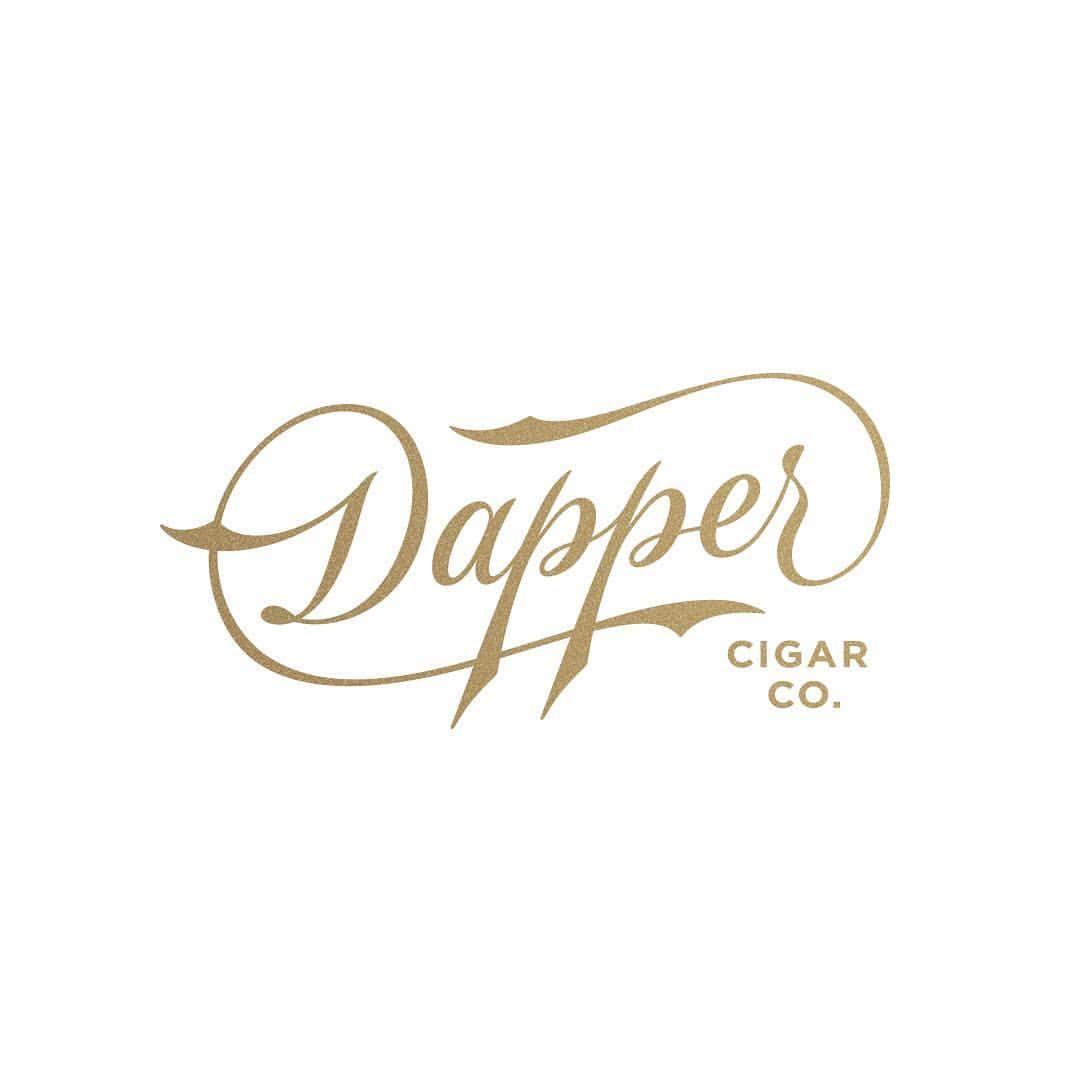 Custom script logo created for Dapper Cigar Company