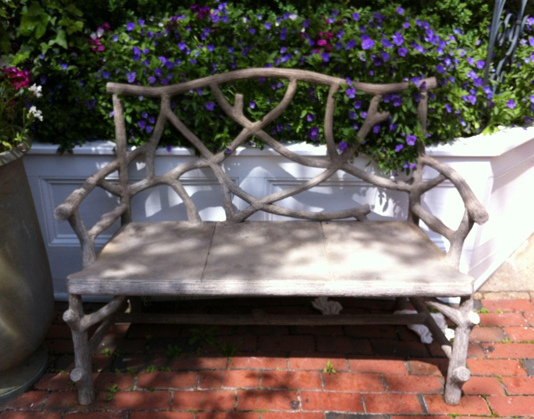 Concrete Twig Garden Bench Concrete Garden Bench 640 x 480