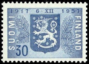 Postimerkki, Suomi - 1957