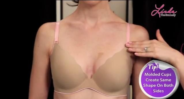 8b487d6e8f Uneven Breasts  Molded Bras Create Same Shape on Both Sides (click for a  video