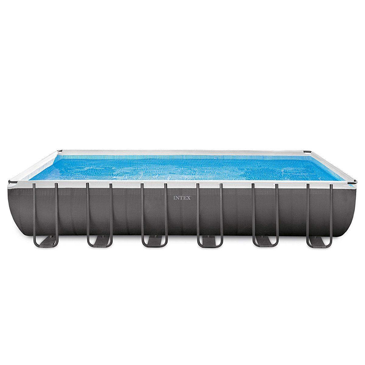 Intex 24ft X 12ft X 52in Ultra Frame Rectangular Pool Set with Sand ...