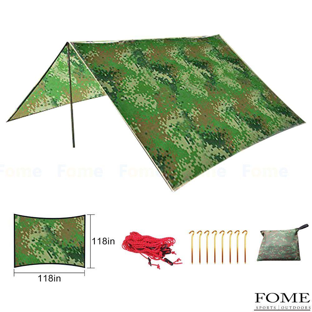 Camping Tarpfome Waterproof Portable Outdoor Awning Sunshade Tarp Cover Tent Shelter Camping Shelter Rain Surviva Camping Shelters Camping Tarp Outdoor Awnings
