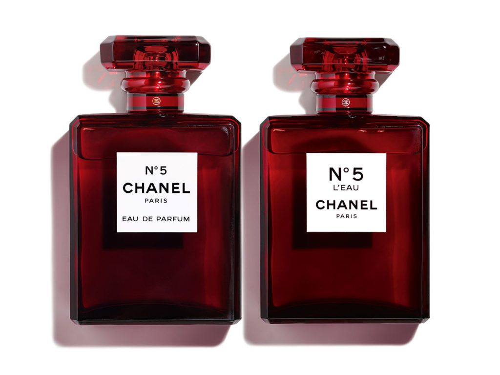 185f079d Chanel Limited Edition Red N°5 & N°5 L'Eau | Rare | Red perfume ...
