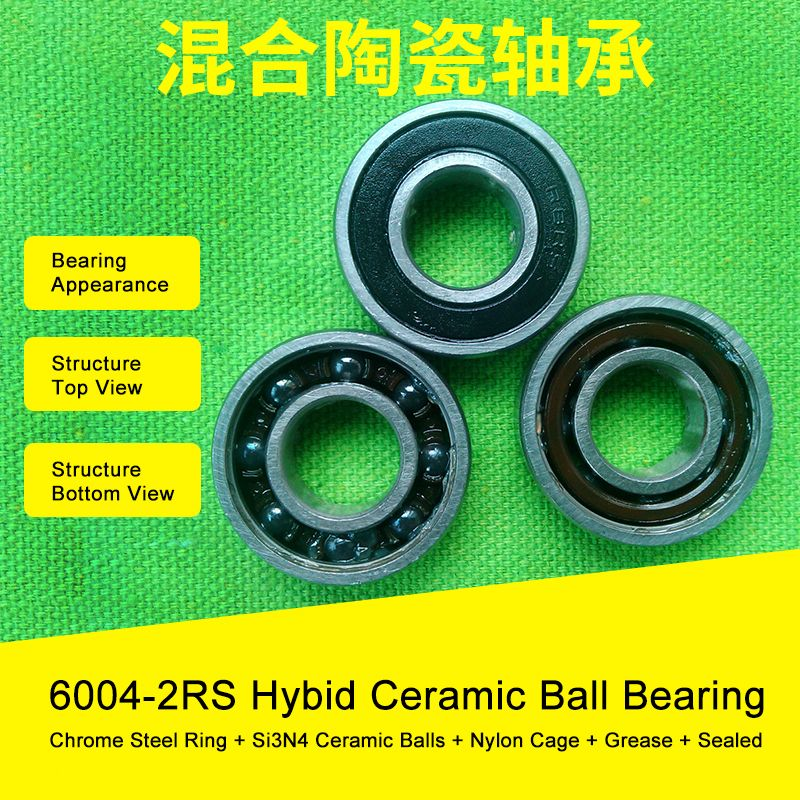 6004 Hybrid Ceramic Bearing 20x42x12 Mm Abec 1 1 Pc Bicycle Bottom Brackets Spares 6004rs Si3n4 Ball Bear Bicycle Bottom Brackets Bottom Bracket Ceramics