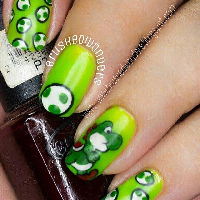 brushedwonders yoshi mario #nail #nails #nailart | Girly crap ...