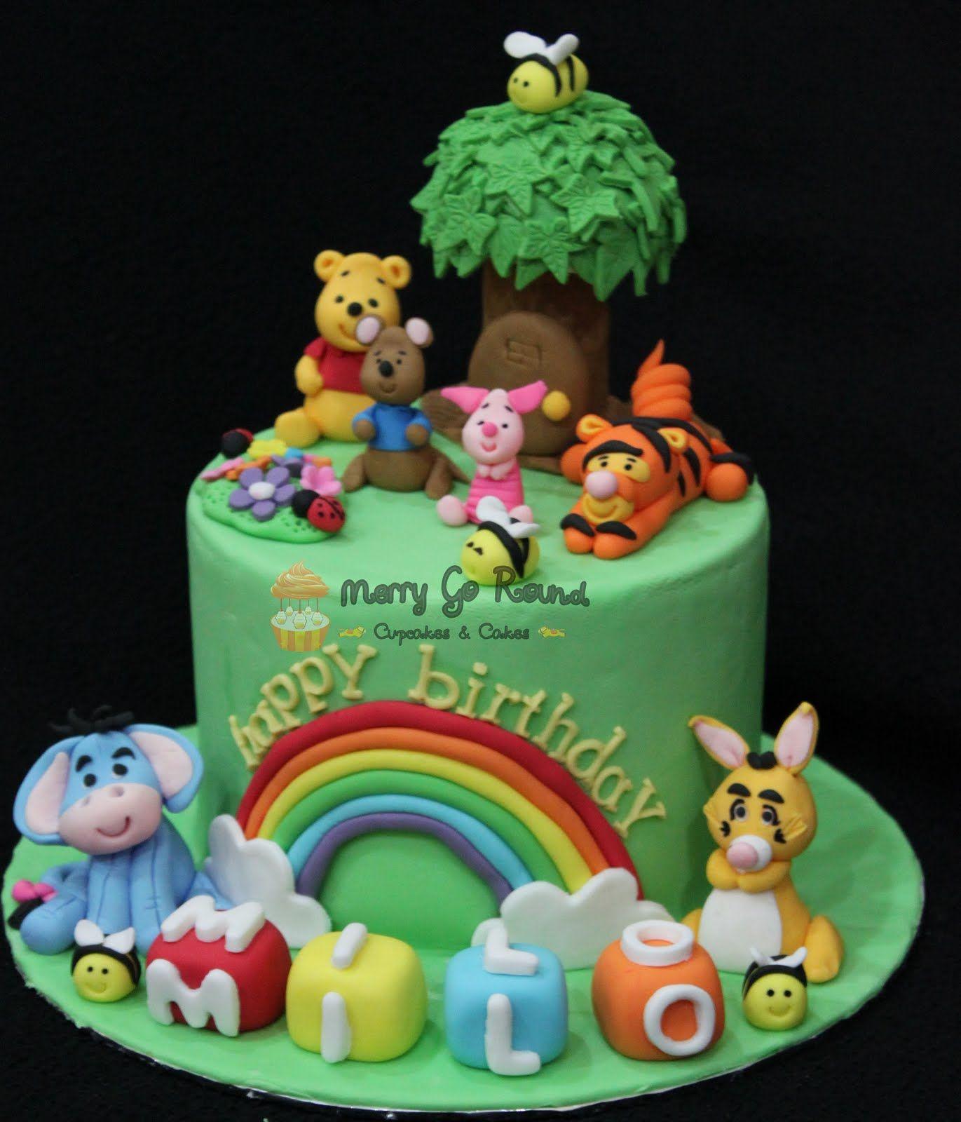 Merry Go Round Cupcakes amp Cakes Winnie The Pooh Birthday cakepins