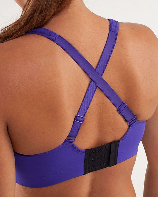 880ea808d3 Lululemon...Ta Ta Tamer II...Comes in Bruised Berry (shown), Lilac and Black ...Bra look at back; Straps can be worn normal or criss cross at back