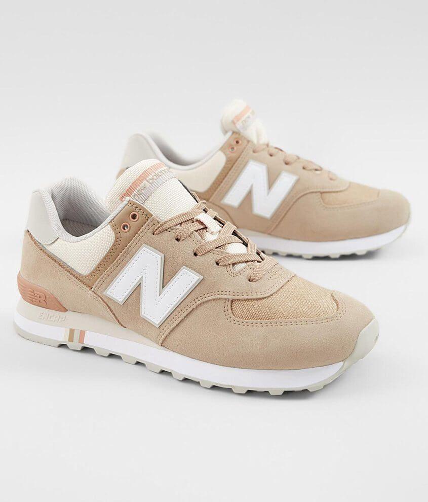 New Balance 574 Summer Shore Suede Shoe - Men's Shoes in Hemp ...