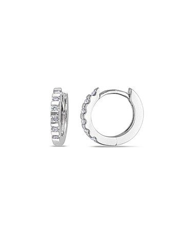 Diamond White Gold Gear Hoop Earrings Zulilyfinds
