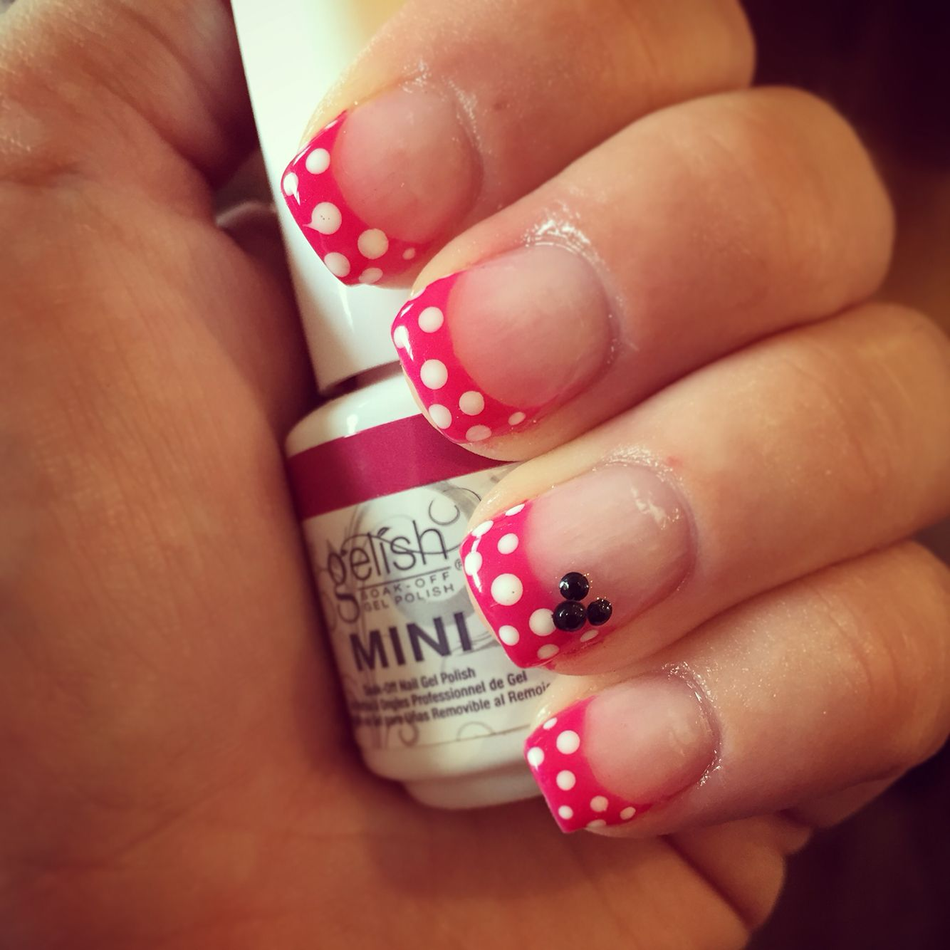 Minnie Mouse gel nails   My Nails!   Pinterest