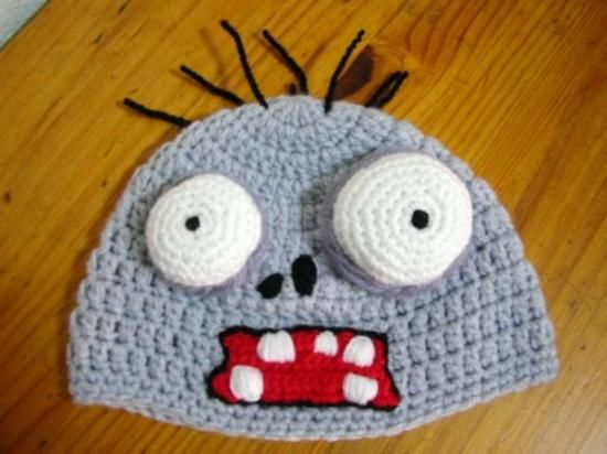gorro crochet plantas versus zombies - Buscar con Google  5a16f8b586b
