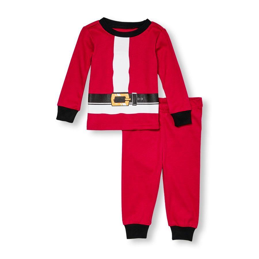 7.47 Was   14.95 Unisex Baby Long Sleeve Santa Suit Top And Pants PJ Set 188d4343c