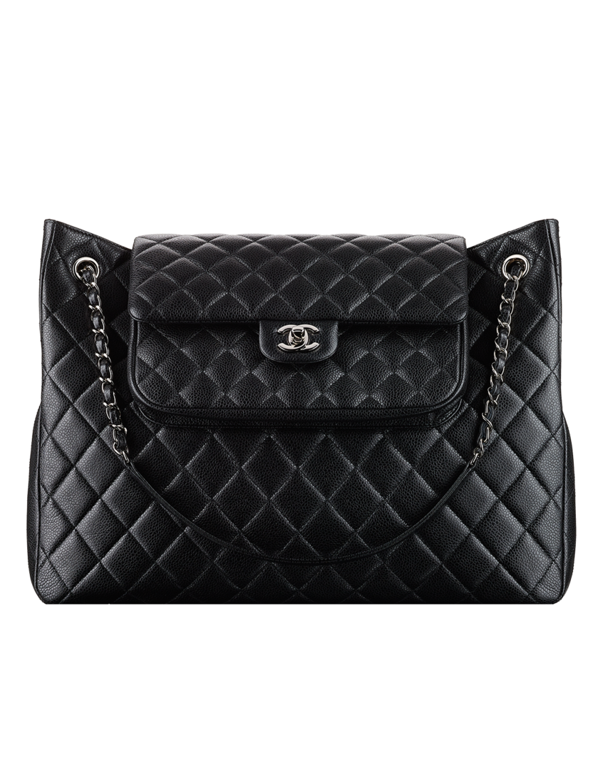 grained calfskin shopping bag chanel a67880 yo9754 94305 chanel chanel shoulder bag