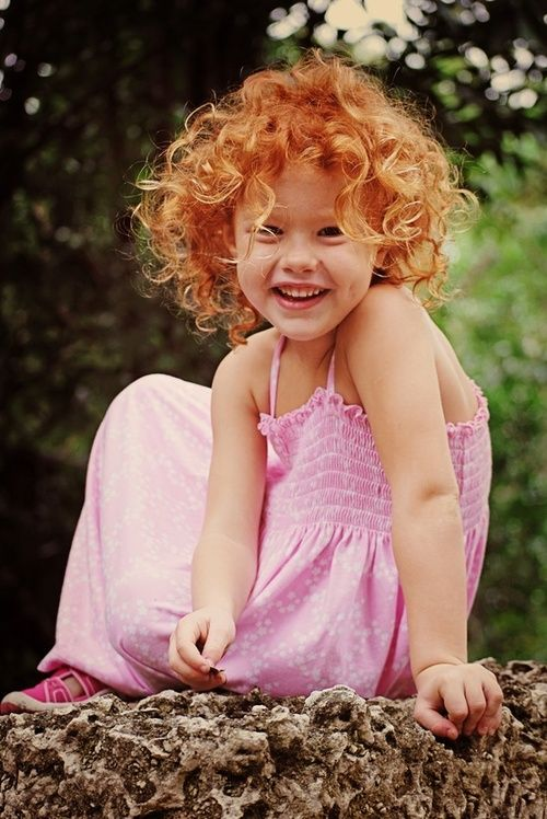 Curly Hairstyle For Toddler : Natural hair not a redhead but an adorable blonde baby