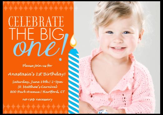 First Birthday Invitation From Costco