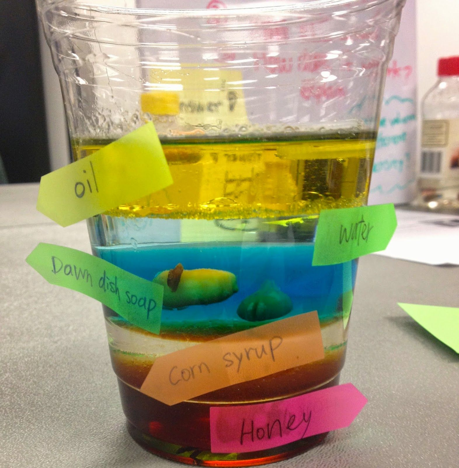 Density lesson middle school science