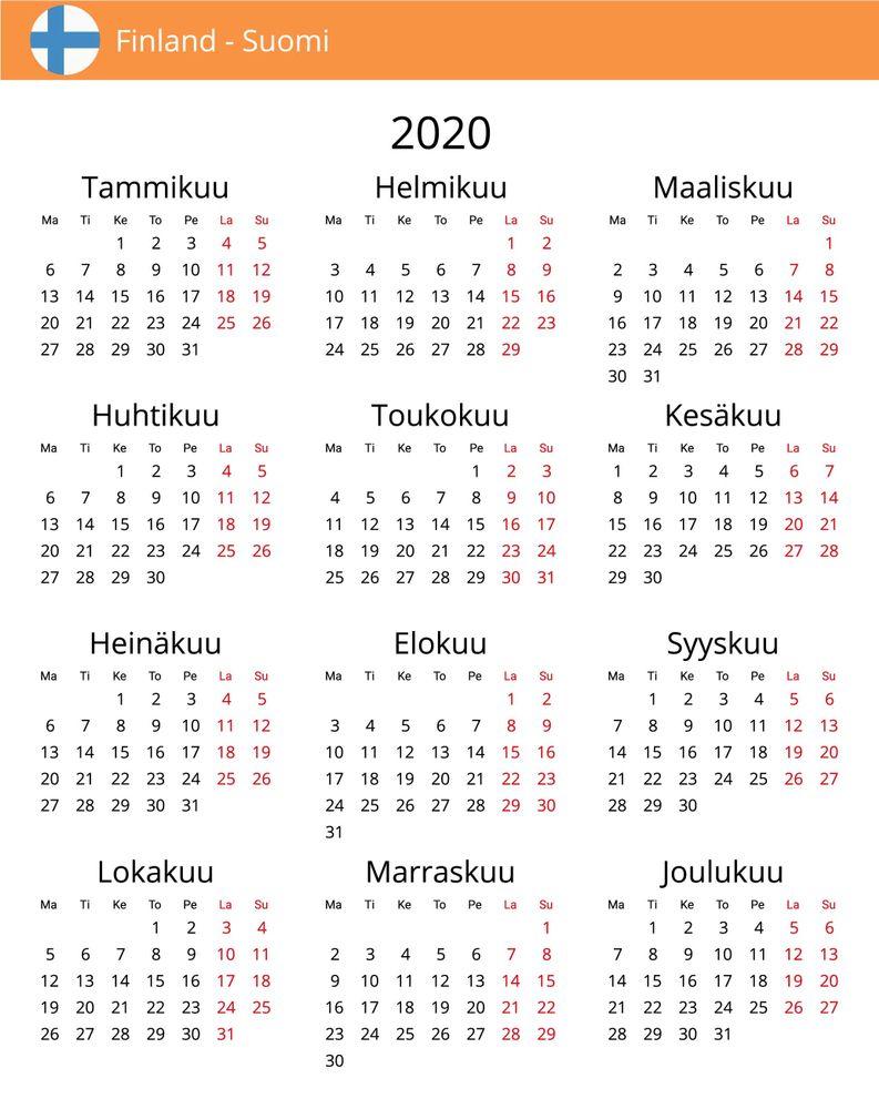 Pyhäpäivät 2020