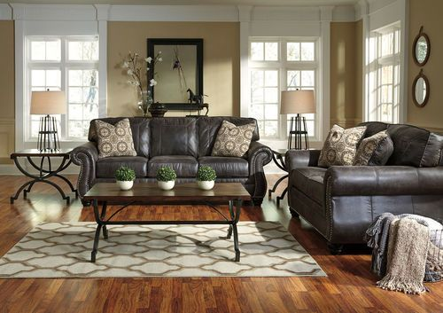 Best Breville Charcoal Sofa Loveseat Brown Living Room 400 x 300